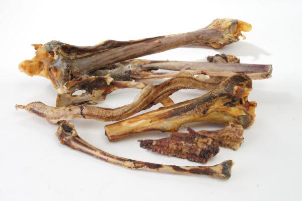 Tierfutter Knochen vom Strauß für den Hund