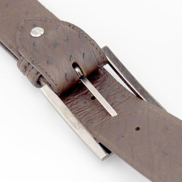 Gürtel aus echtem Straußenleder, braun, Herrengürtel, Damengürtel, Leder