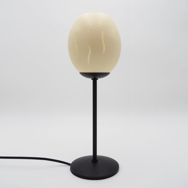 Straußenei Lampe / Teelicht Flamme