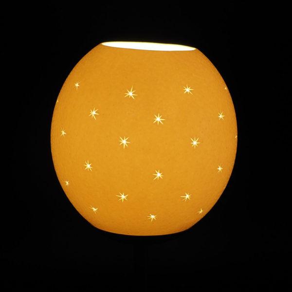 Strausseneilampe Teelicht Sterne überall beleuchtet