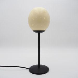 Straußenei Lampe / Teelicht Sternenband